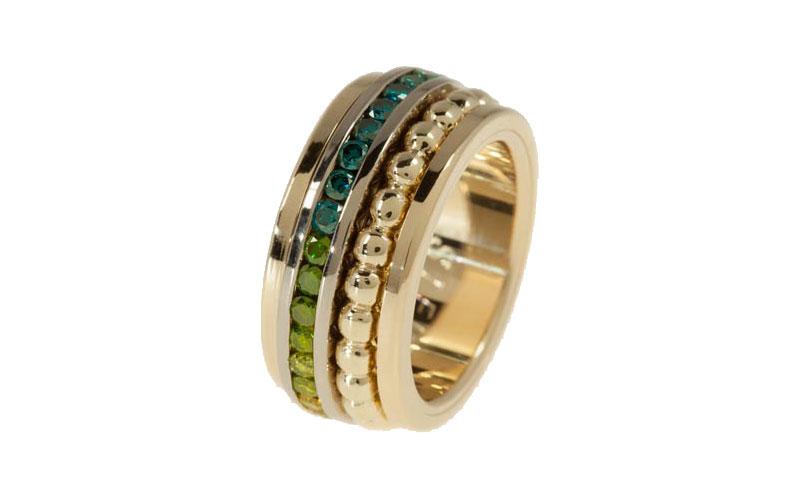 Exclusieve trouwringen met kleurdiamanten